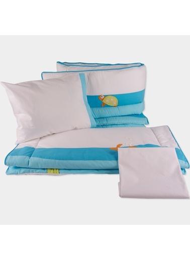Aquarium_Light Blue Park Yatak Uyku Setı (Kenar Korumalı 6 Parça)-Aybibaby